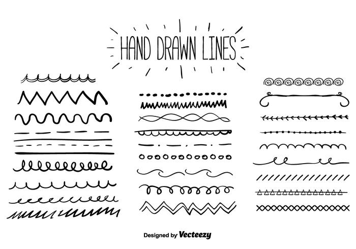Vector Drawing Lines Review : Hand drawn lines vector download free art stock