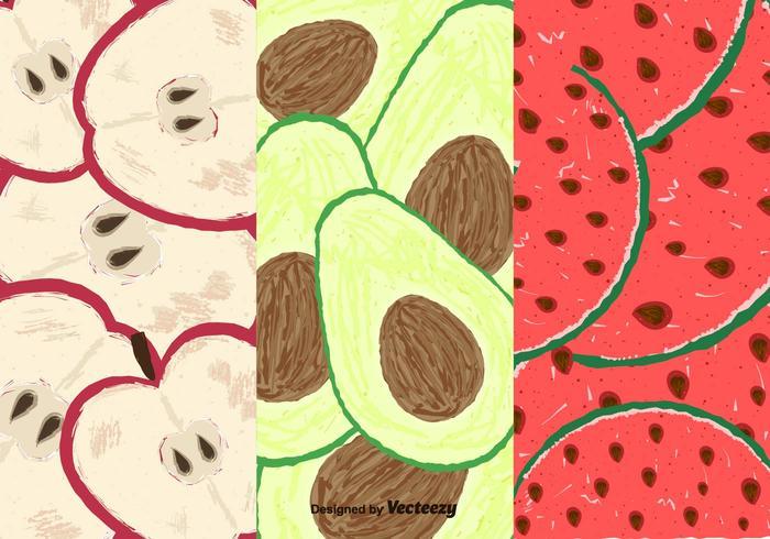 Patrón libre de las rebanadas de las frutas