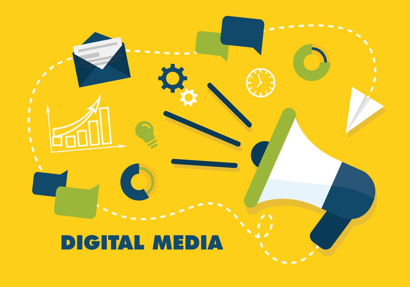 free flat digital marketing vector background download free vectors clipart graphics vector art https www vecteezy com vector art 107468 free flat digital marketing vector background