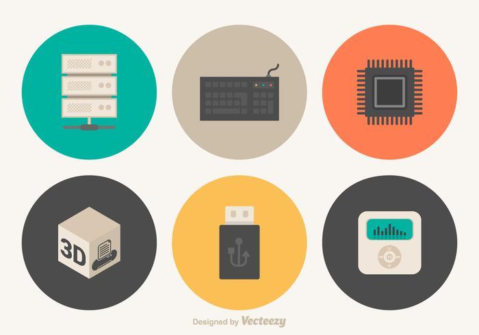 Iconos vectoriales de hardware gratis