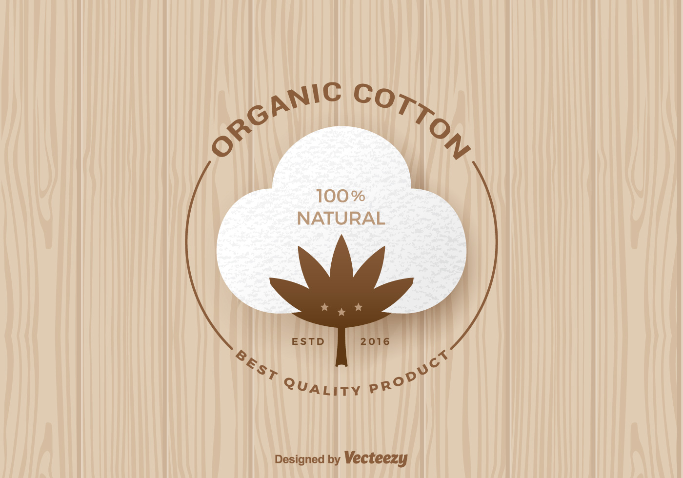 Free Organic Cotton Vector Label Download Free Vector Art Stock Graphics Amp Images