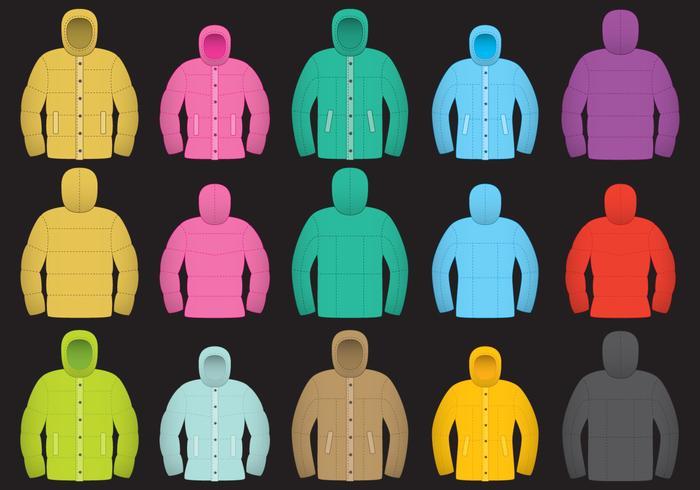 Kleurrijke Wintercoat Vectoren
