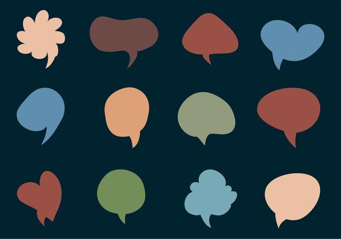 Imessage Free Vector collection de Chat Bubbles.