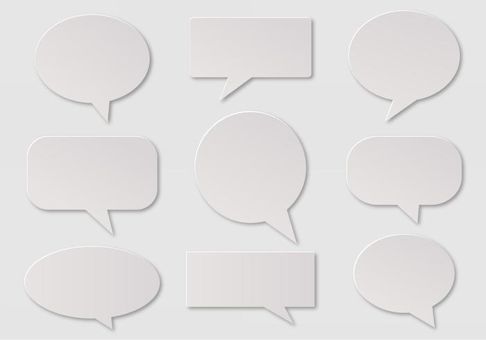 Free Vector Imessage, Speech And Communication Bubbles