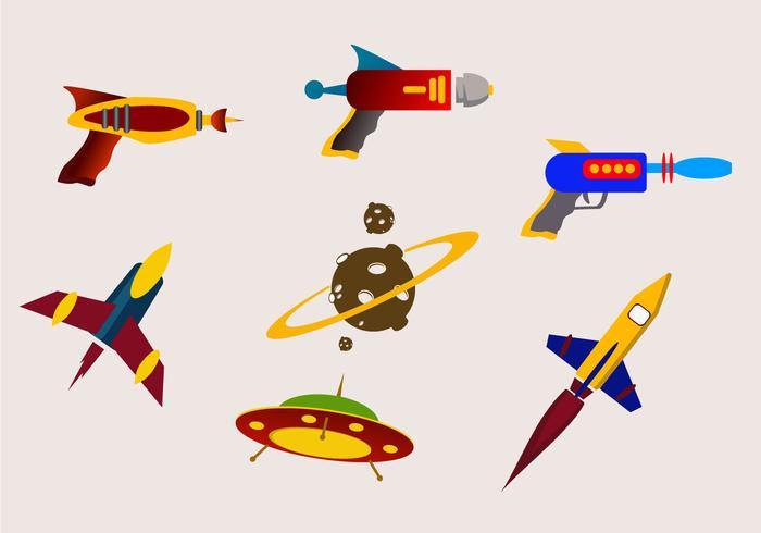 Vetores de pistola a laser de batalha galáctica