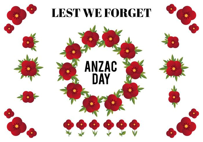 Free Vector Design Elements For Anzac Day