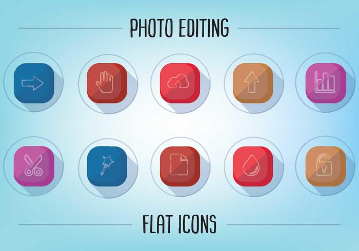 Free Flat Photo Editing Icons Vector Download Free