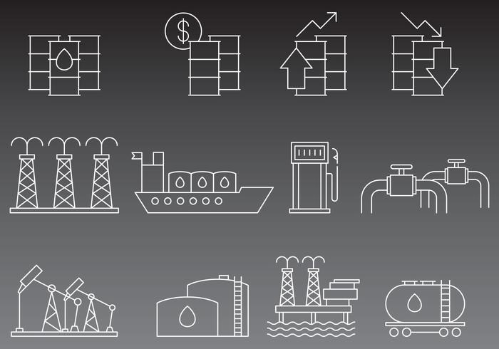 Vector Oil Line Icons