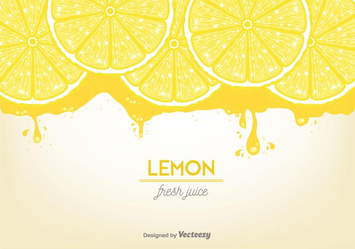 Lemon Juice Background Vector