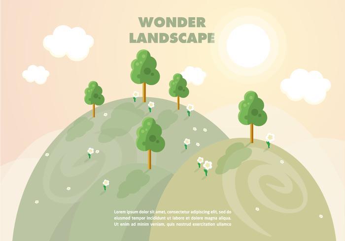 Free Wonder Landscape Vector Background