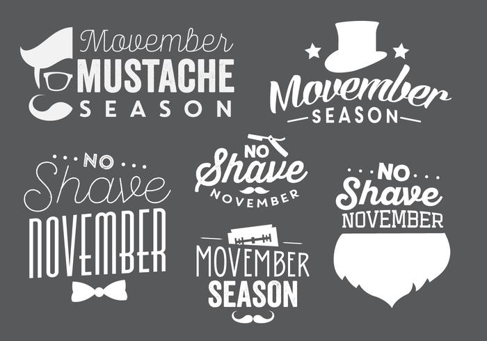 Vectores tipográficos de Movember