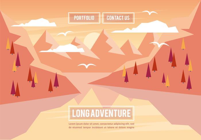 Free Landscape Illustration Vector Background