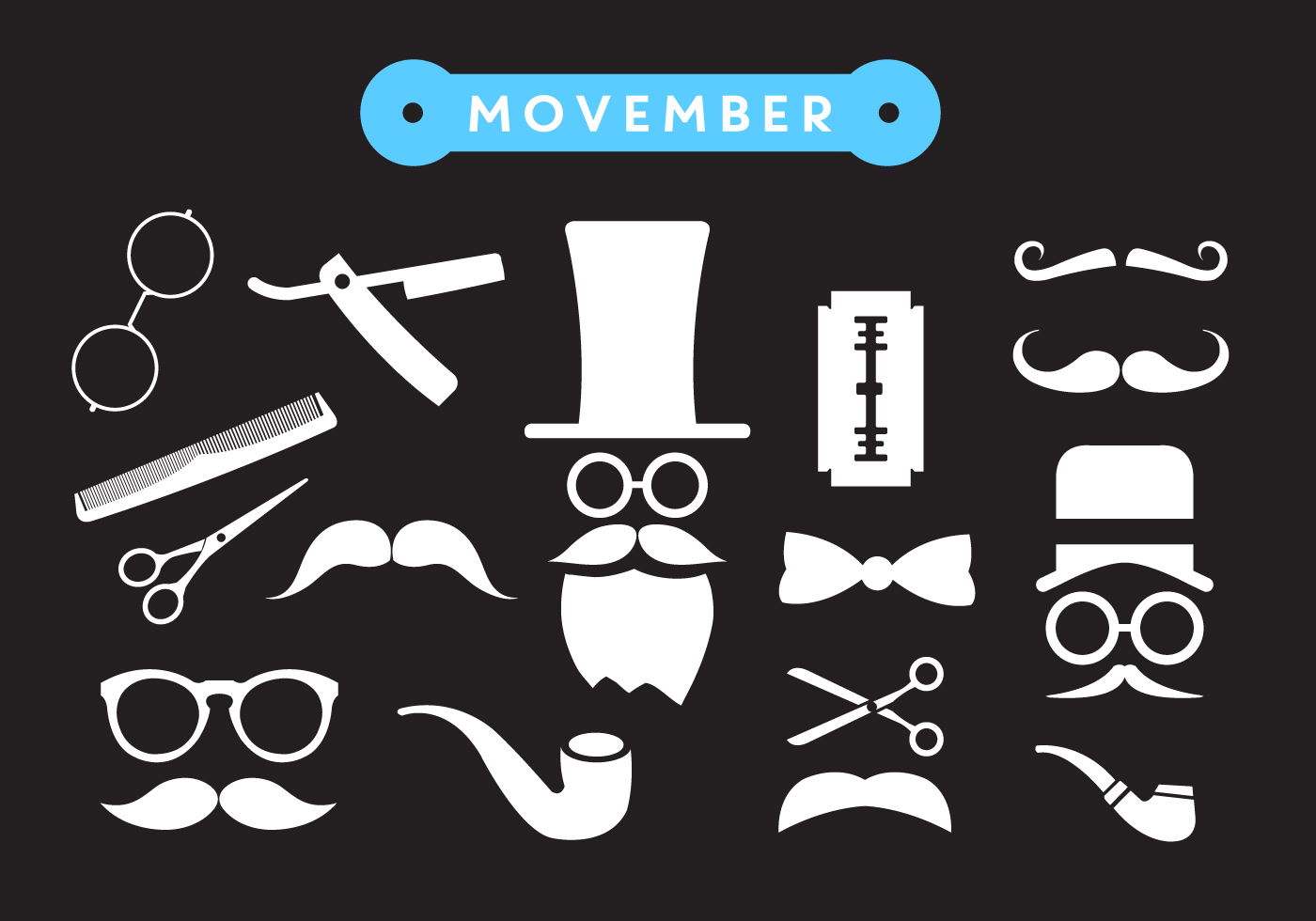 Movember Shave Vector Icons Download Free Vectors
