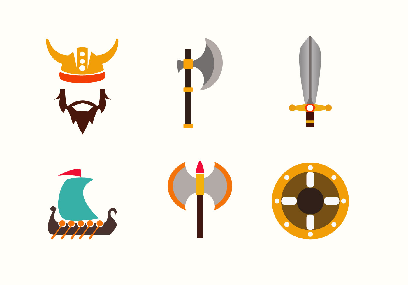 Viking Symbols Vector - Download Free Vector Art, Stock ...