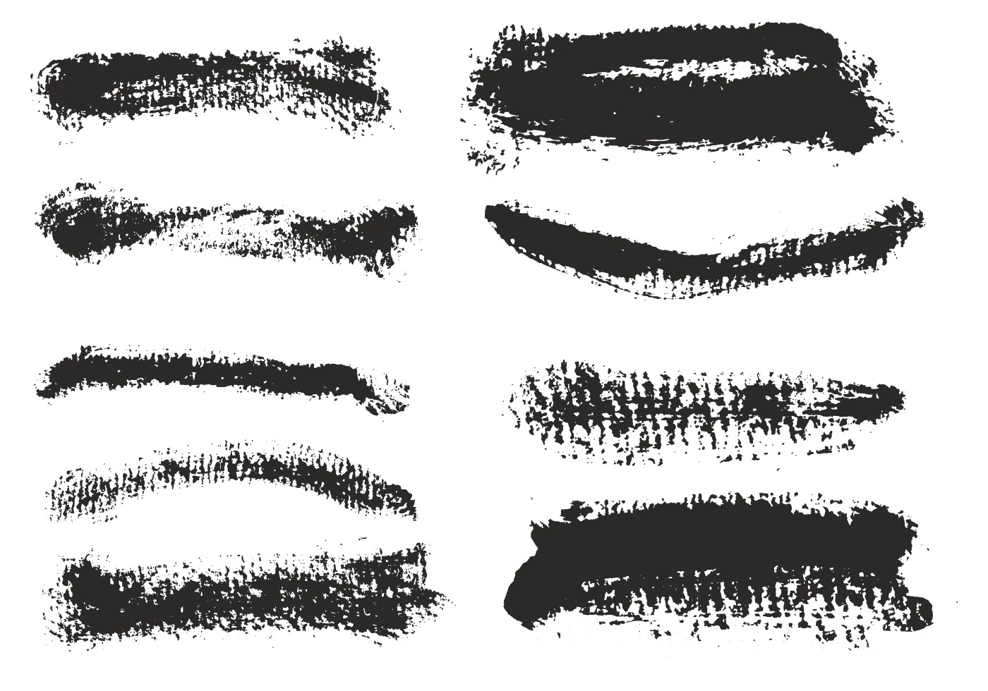 Free Vector Eroded Brush Strokes Set - Download Free ...