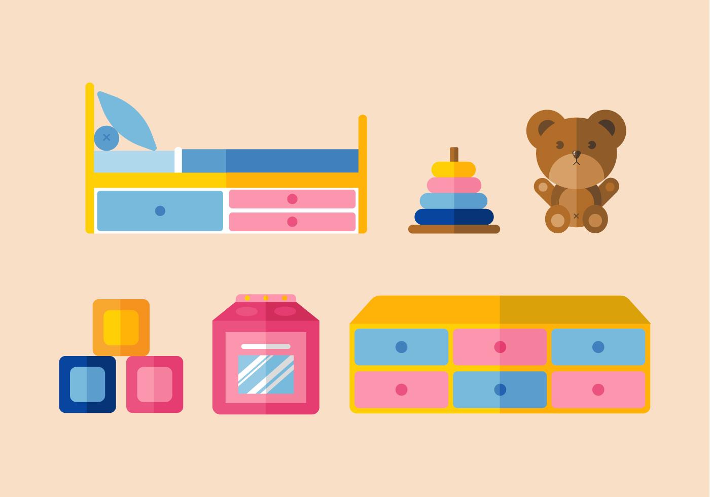 Vector Kids Room Download Free Vector Art Stock Graphics Images