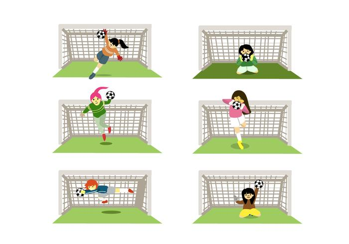 Female Goal Keepers Vector