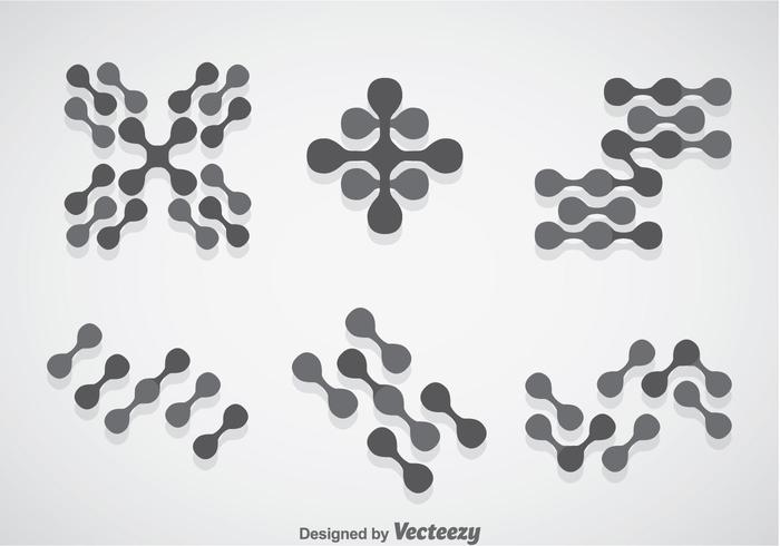 Conjuntos de vetores de nanotecnologia