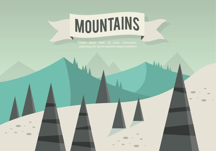 Free Flat Mountains Landscape Vector