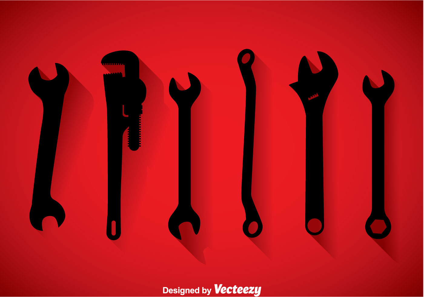 Wrench Black Icons Vec...