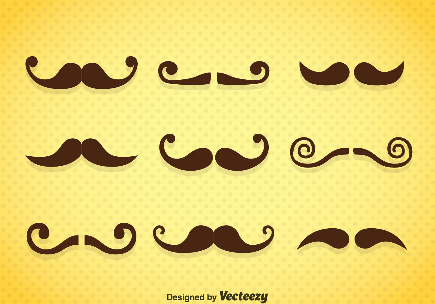 Mustaches Icons Vector...