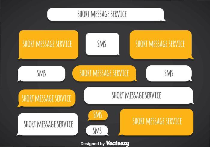 Servicio de mensajes cortos Vector de plantilla en blanco