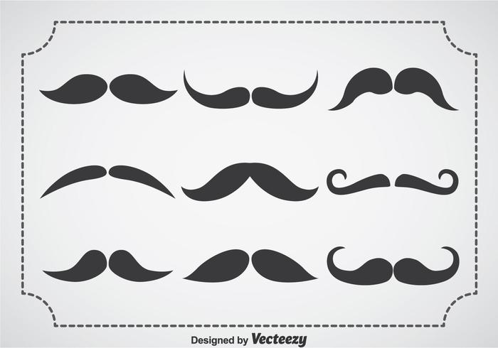 Movember Snor Vector Set