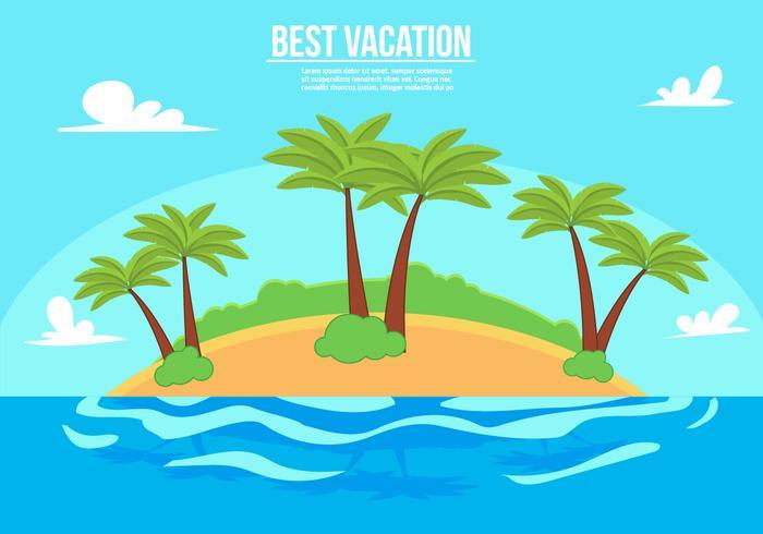Free Vacation Vector Illustration