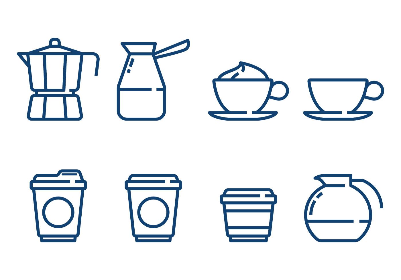 Coffee Minimalist Icon Vectors Download Free Vectors