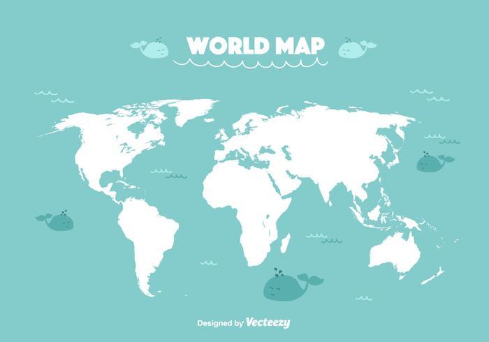 Vecteur de carte du monde drôle