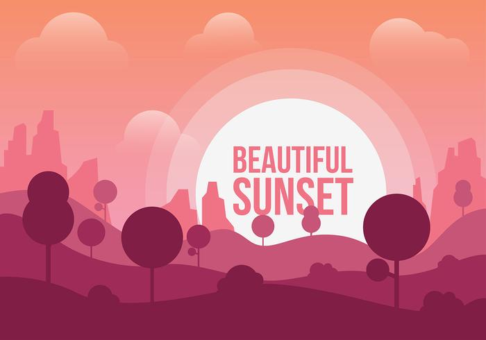 Free Beautiful Sunset Vector