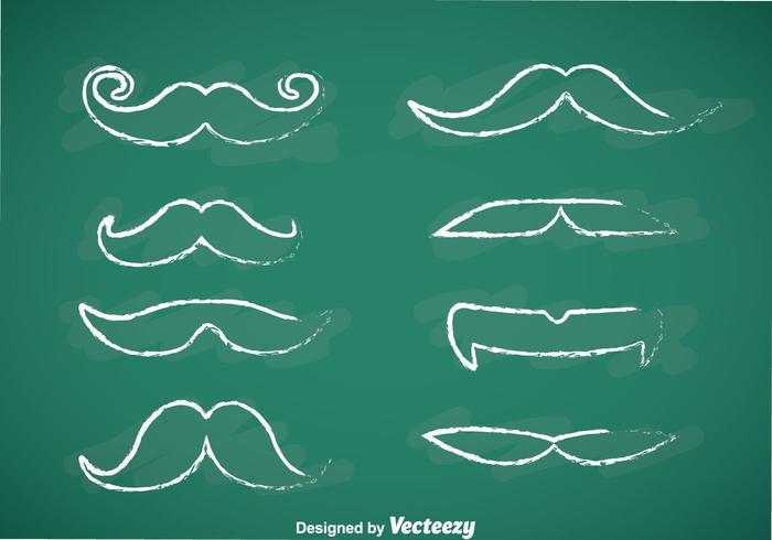 Movember Mustache Chalk Draw Vectors