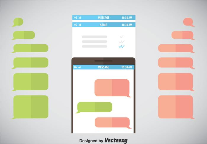 Imessage Template Vector