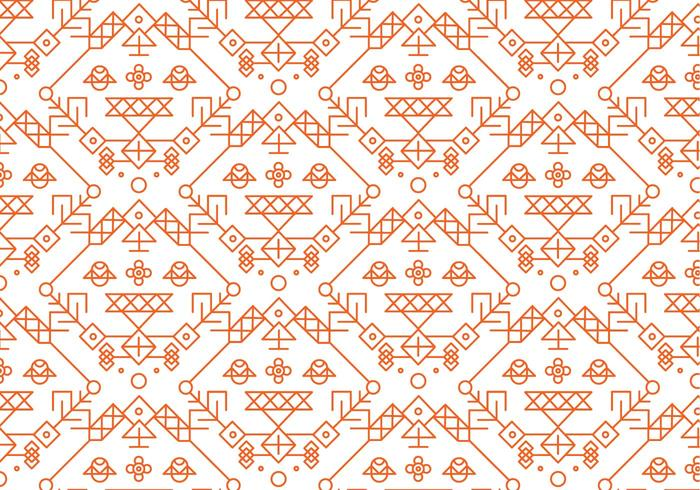 Red Decorative Pattern Vector