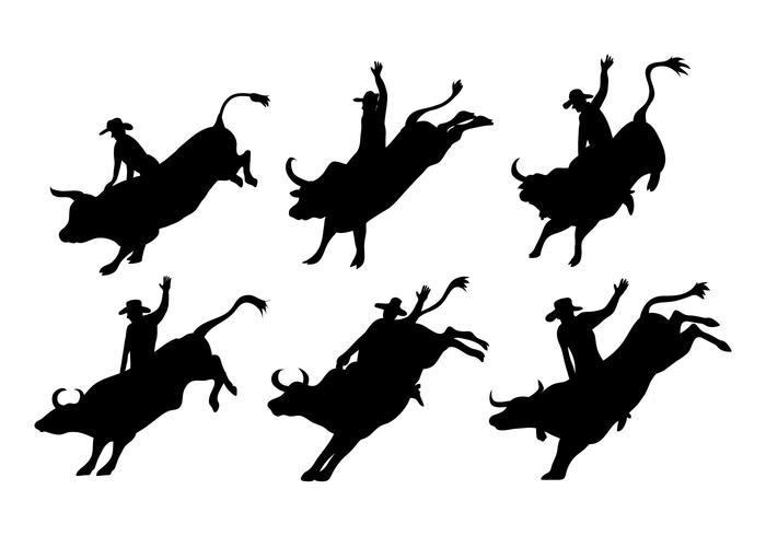 Bull Rider Vector - Download Free Vector Art, Stock ...