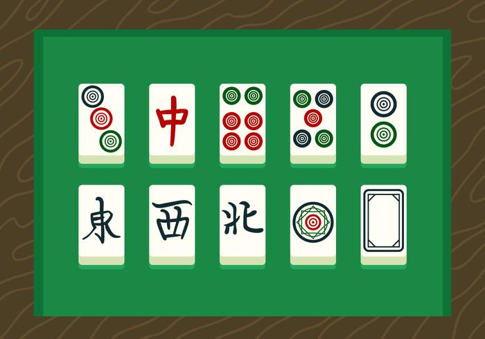 Mahjong Vector Cards