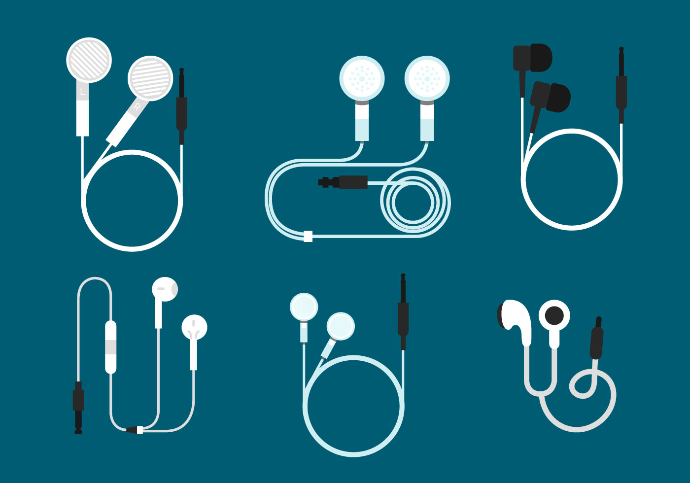 Ear Buds Vector Sets - Download Free Vector Art, Stock ...