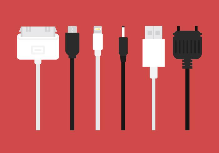Phone Charger Vector Cables