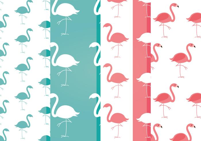 Free Vector Flamingo Patterns