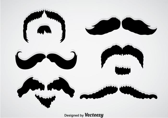 Movember Mustache Black Vectors