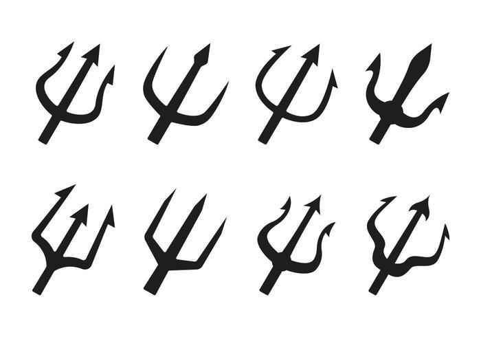 Poseidon trident vector icoon