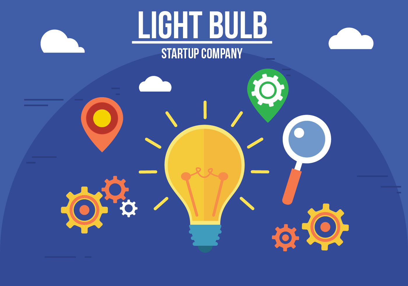 Creative Light Bulb Vector Download Free Vector Art