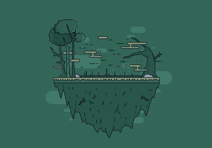 Vetor livre da ilha do pântano