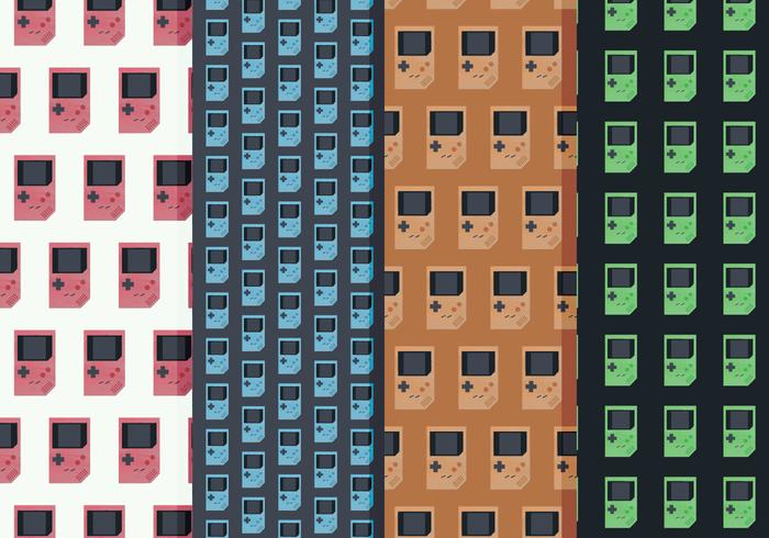 Nintendo Game Boy Vector Patterns