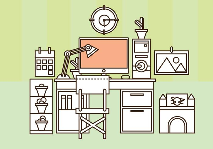 free home office. free home office vector set up g
