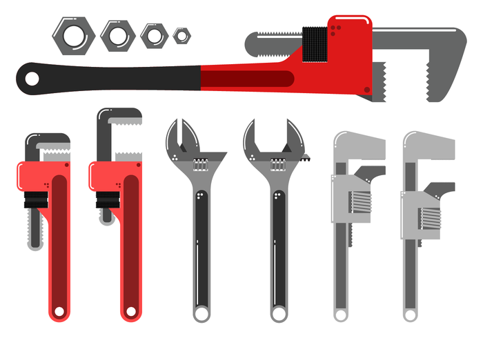Free Monkey Wrench Vector