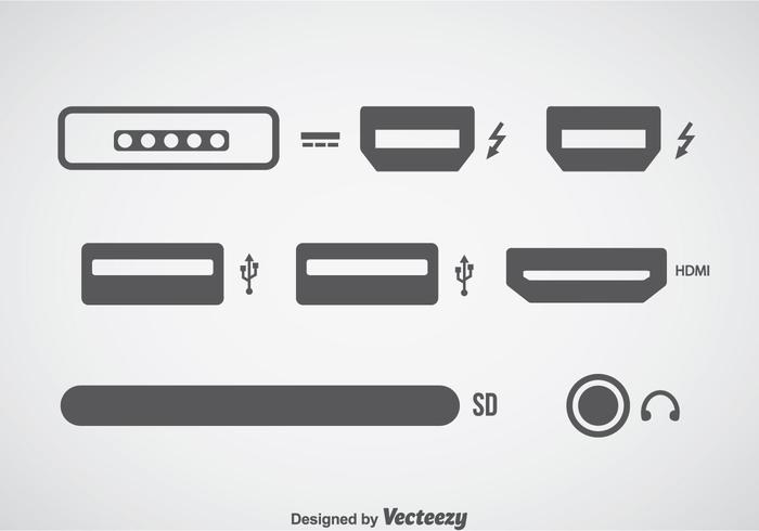 Computer Connection Icons Sets vector