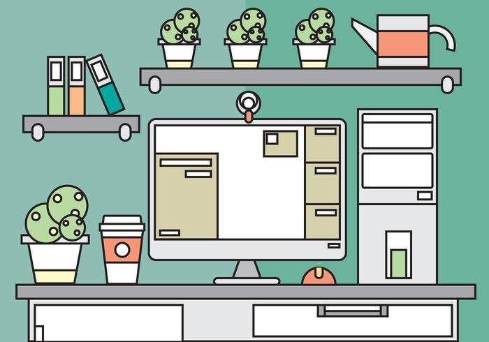 Free Desk Office Vector