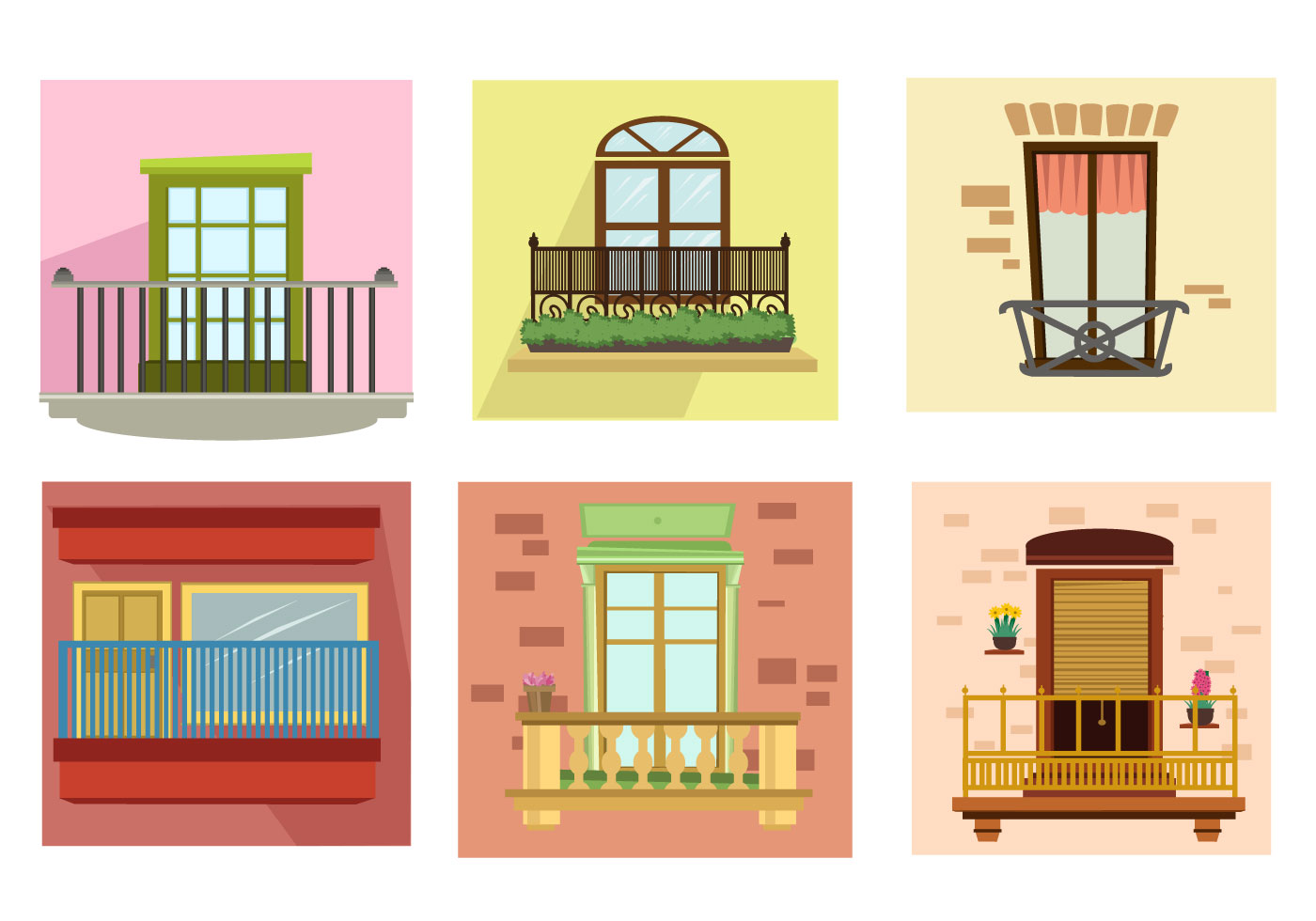 apartment balcony vector download free vector art stock