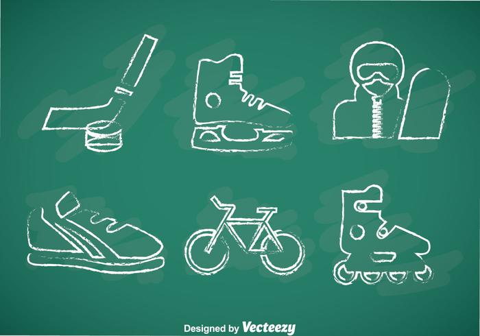 Sports Chalk Drawn Vector Icons